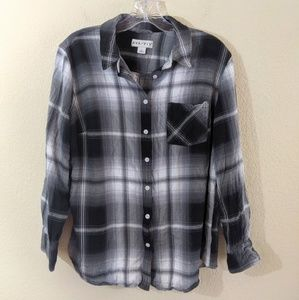 Ava | Viv  Black & White Plaid Shirt